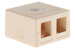 Keystone Surface Mount Box, 2 Port, Ivory