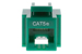 Cat5e Tool Less RJ45 Keystone Jack, Green