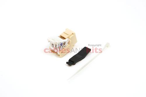 Cat6 Tool Less RJ45 Keystone Jack, Ivory