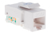 Cat6 Tool Less RJ45 Keystone Jack, White
