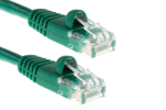 3ft Green CAT5e Ethernet Patch Cable, Half-Moon, Booted