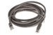 Cat5e Crossover Ethernet Patch Cable, Booted, 10ft, Gray