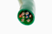 CAT5e Ethernet Patch Cable, Non-Booted, 1ft, Green