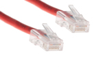 CAT5e Ethernet Patch Cable, Non-Booted, 1ft, Red
