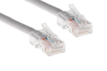 CAT5e Ethernet Patch Cable, Non-Booted, 1ft, White