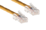 CAT5e Ethernet Patch Cable, Non-Booted, 1ft, Yellow