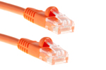 CAT5e Ethernet Patch Cable, Booted, 0.5ft, Orange