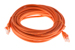 CAT5e Ethernet Patch Cable, Booted, 20ft, Orange