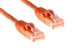 Cat5e Crossover Ethernet Patch Cable, Booted, 7ft, Orange
