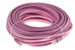 CAT5e Ethernet Patch Cable, Booted, 75ft, Pink