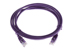 CAT5e Ethernet Patch Cable, Booted, 6ft, Purple