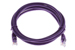 CAT5e Ethernet Patch Cable, Booted, 7ft, Purple