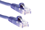 CAT5e Ethernet Patch Cable, Booted, 14ft, Purple