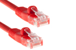 3ft Red CAT5e Ethernet Patch Cable, Half-Moon, Booted