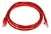 CAT5e Ethernet Patch Cable, Booted, 4ft, Red