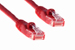 Cat5e Crossover Ethernet Patch Cable, Booted, 10ft, Red
