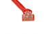 Cat5e Crossover Ethernet Patch Cable, Booted, 75ft, Red