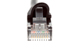 CAT5e Shielded Ethernet Patch Cable, Booted, 1ft, Black