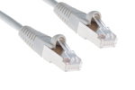 CAT5e Shielded Ethernet Patch Cable, Booted, 50ft, Gray