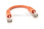 CAT5e Shielded Ethernet Patch Cable, Booted, 0.5ft, Orange