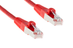CAT5e Shielded Ethernet Patch Cable, Booted, 50ft, Red