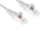 CAT5e Shielded Ethernet Patch Cable, Booted, 5ft, White