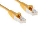 CAT5e Shielded Ethernet Patch Cable, Booted, 0.5ft, Yellow