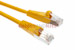 CAT5e Shielded Ethernet Patch Cable, Booted, 4ft, Yellow