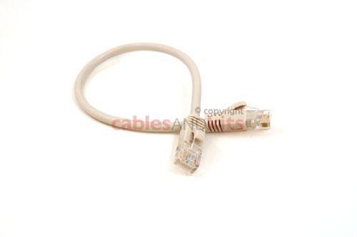 CAT5e Ethernet Patch Cable, Booted, 1ft, White