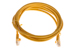 CAT5e Ethernet Patch Cable, Booted, 7ft, Yellow