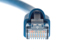 CAT6A Ethernet Patch Cable, Booted, 2ft, Blue