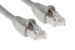 CAT6A Ethernet Patch Cable, Booted, 1ft, Gray