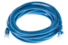 CAT6 Ethernet Patch Cable, Booted, 15ft, Blue