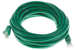 CAT6 Ethernet Patch Cable, Booted, 15ft, Green