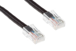 CAT6 Ethernet Patch Cable, Non-Booted, 1ft, Black