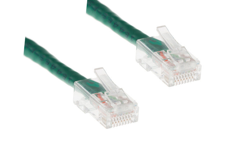 CAT6 Ethernet Patch Cable, Non-Booted, 3ft, Green