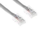 CAT6 Ethernet Patch Cable, Non-Booted, 7ft, Gray