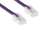 CAT6 Ethernet Patch Cable, Non-Booted, 1ft, Purple