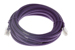CAT6 Ethernet Patch Cable, Non-Booted, 15ft, Purple