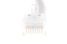 CAT6 Ethernet Patch Cable, Non-Booted, 25ft, White