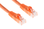 CAT6 Ethernet Patch Cable, Booted, 2ft, Orange