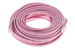 CAT6 Ethernet Patch Cable, Booted, 75ft, Pink