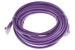 CAT6 Ethernet Patch Cable, Booted, 15ft, Purple