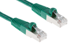 CAT6 Shielded Ethernet Patch Cable, Booted, 1ft, Green