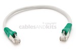 Cat6 Shielded Crossover Ethernet Patch Cable, Booted, 1ft, Gray
