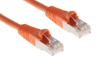 CAT6 Shielded Ethernet Patch Cable, Booted, 3ft, Orange