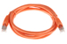 CAT6 Shielded Ethernet Patch Cable, Booted, 5ft, Orange