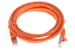 CAT6 Shielded Ethernet Patch Cable, Booted, 7ft, Orange