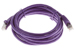 CAT6 Shielded Ethernet Patch Cable, Booted, 7ft, Purple