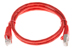 CAT6 Shielded Ethernet Patch Cable, Booted, 3ft, Red